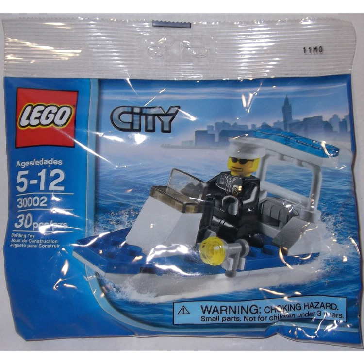 LEGO Town Sets: LEGO City 30002 Police Boat NEW