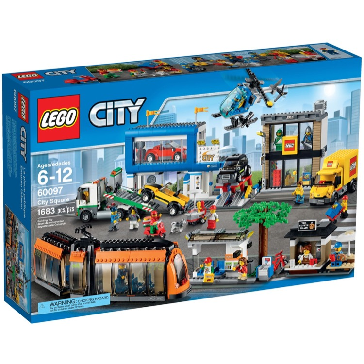 LEGO Town Sets: City 60097 City Square NEW *Damaged Box*