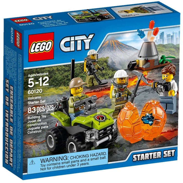 LEGO Town Sets: City 60120 Volcano Starter Set NEW