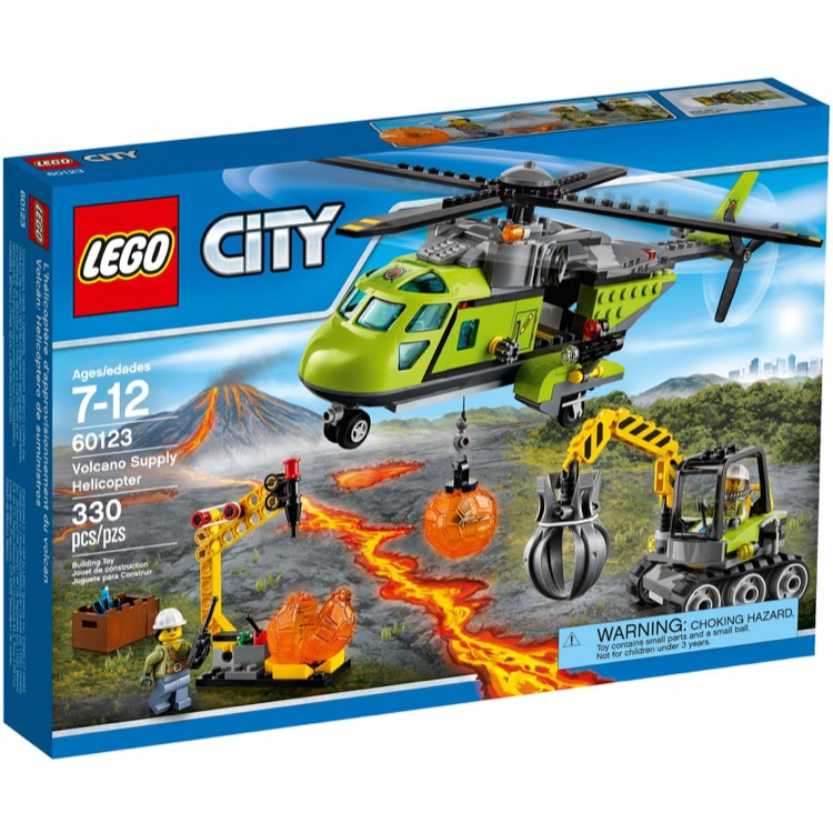 LEGO Town Sets: City 60123 Volcano Supply Helicopter NEW