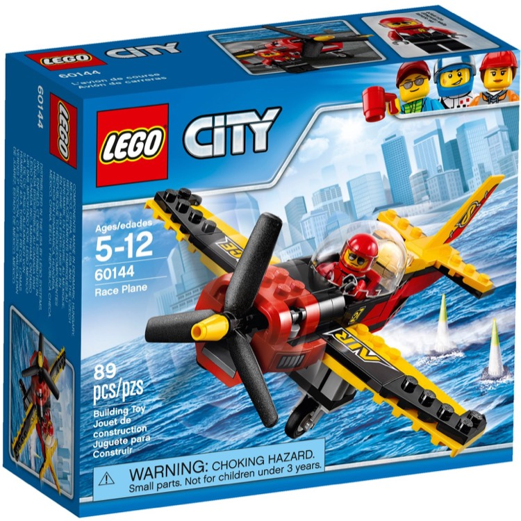 LEGO Town Sets: 60144 City Race Plane NEW *Damaged Box*