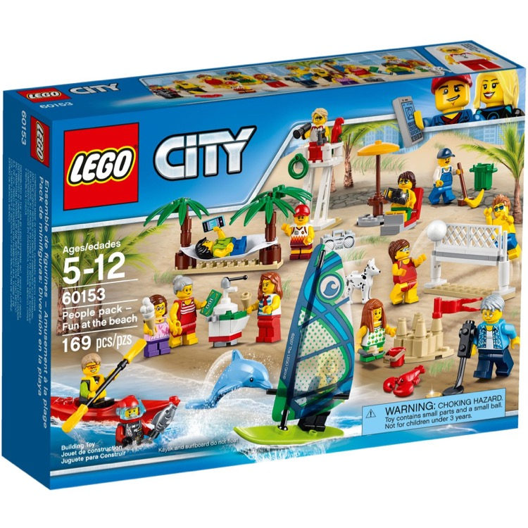 LEGO Town Sets: City 60153 People Pack - Fun at the Beach NEW