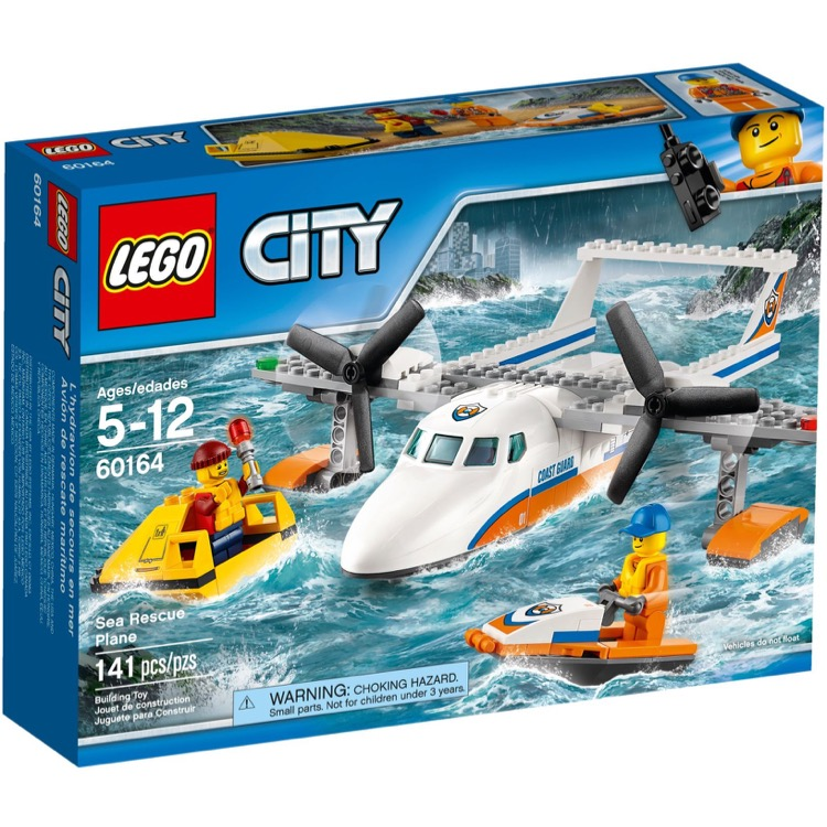 LEGO Town Sets: City 60164 Sea Rescue Plane NEW