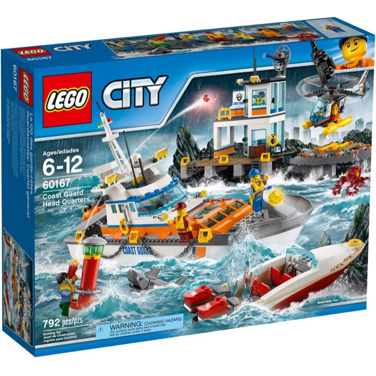 LEGO Town Sets: City 60167 Coast Guard Headquarters NEW