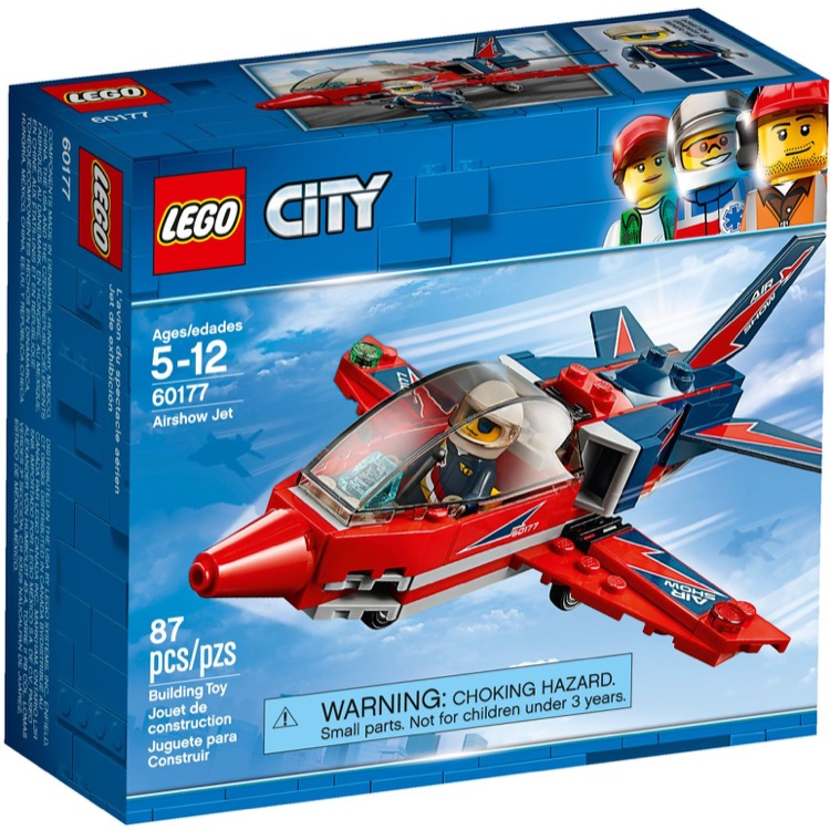 LEGO Town Sets: City 60177 Airshow Jet NEW *Damaged Box*