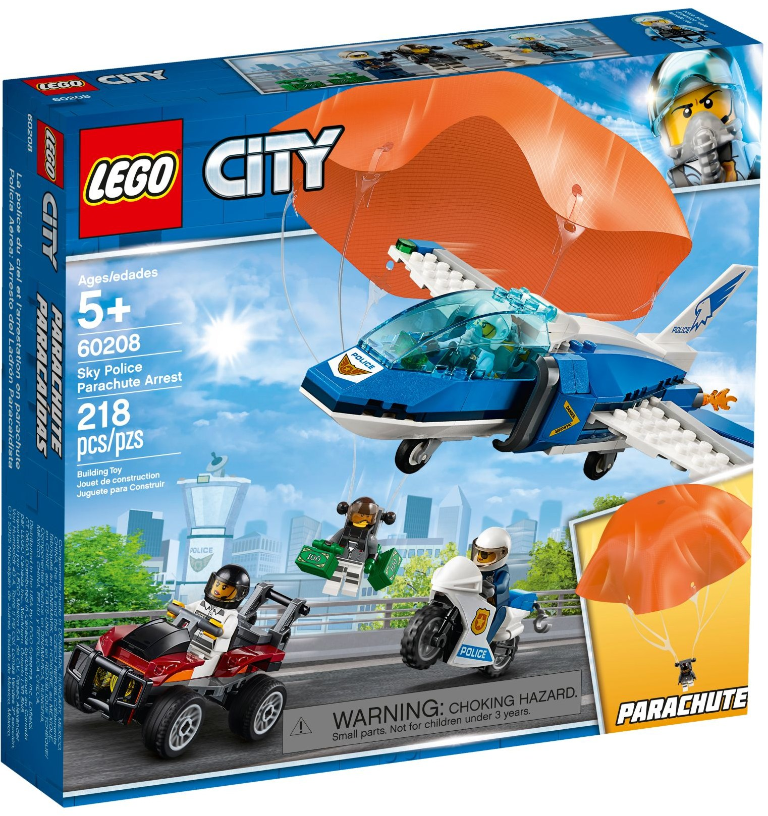 LEGO Town Sets: 60208 City Parachute Arrest NEW
