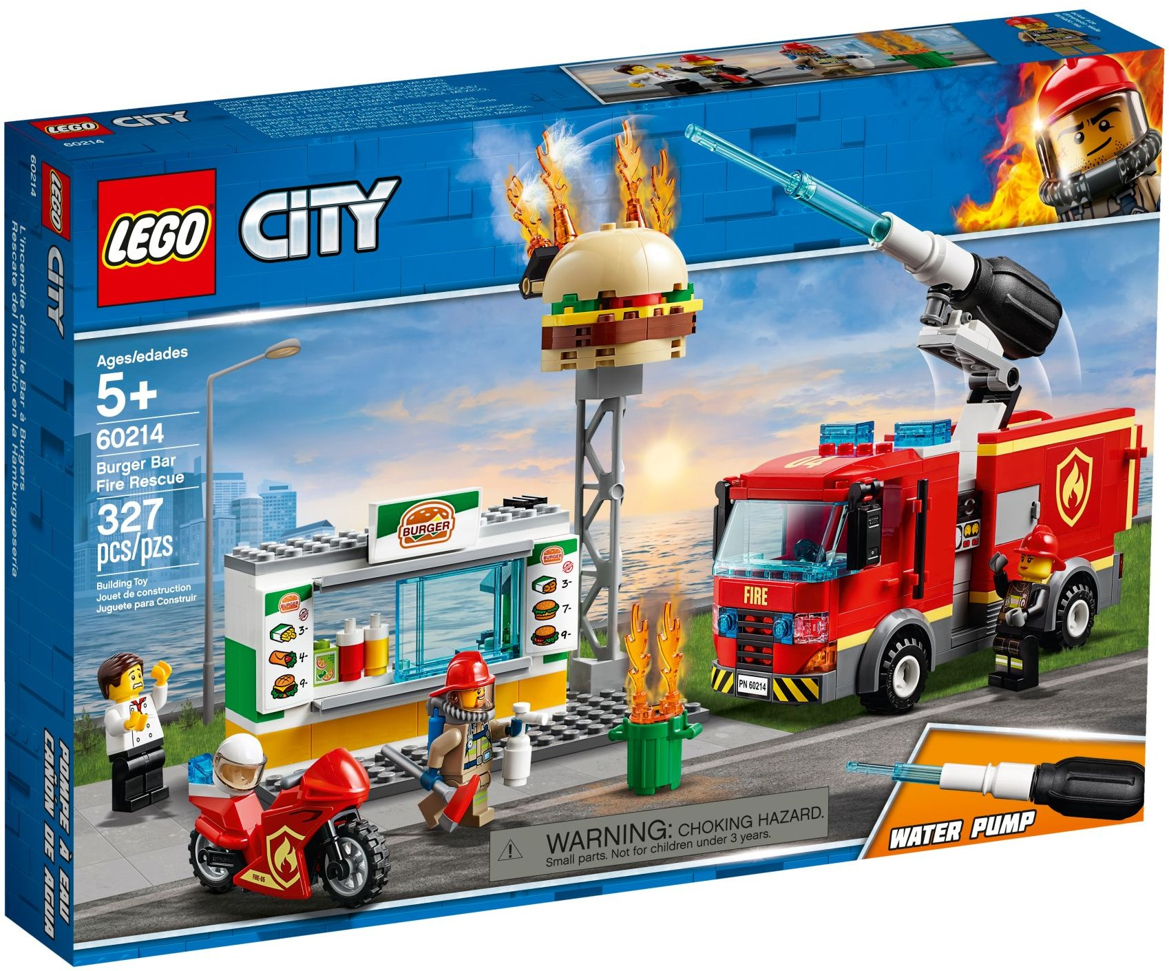 LEGO Town Sets: 60214 City Burger Bar Fire Rescue NEW