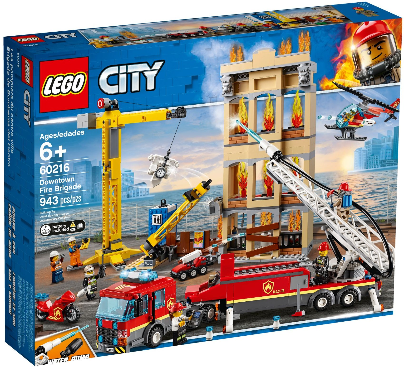 LEGO Town Sets: 60216 City Downtown Fire Brigade NEW