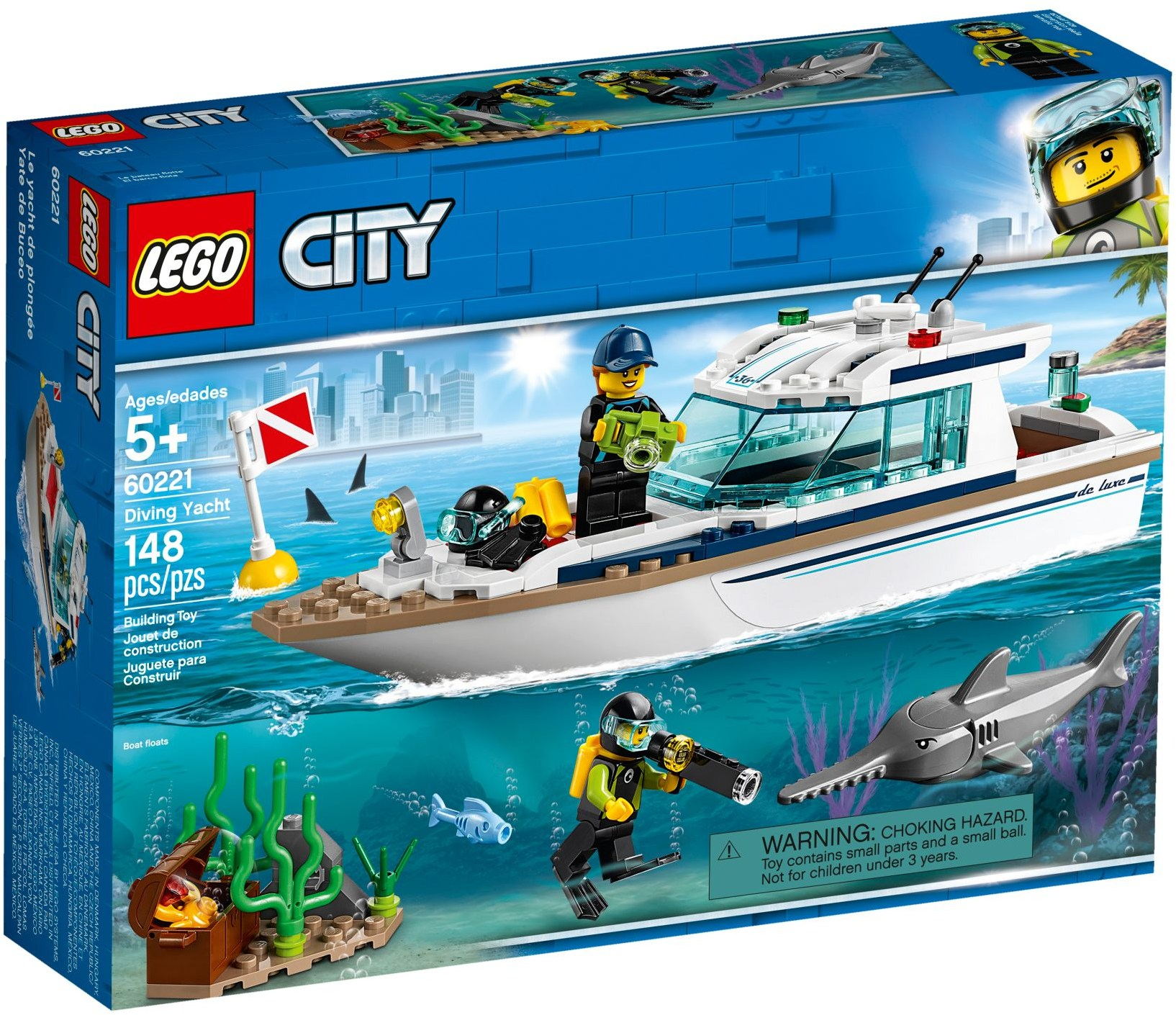 LEGO Town Sets: 60221 City Diving Yacht NEW