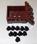 BrickArms: M67 Frag Grenade (Black) x10 in a LEGO Crate