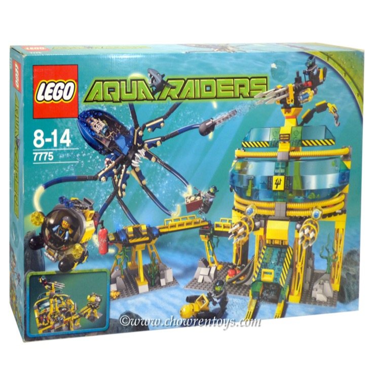 LEGO Aqua Raiders Sets: 7775 Aquabase Invasion NEW *Sticker Damage*