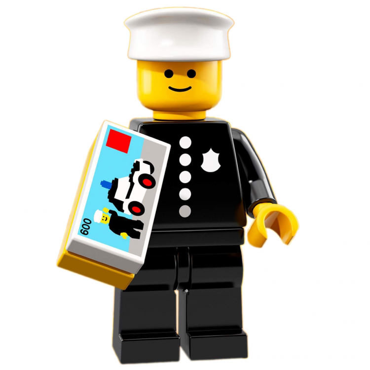 LEGO Collectible Minifigures: 71021 Series 18 Classic Police Officer NEW