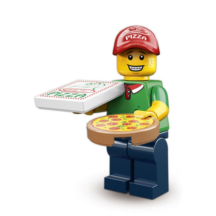 LEGO Collectible Minifigures: 71007 Series 12 Pizza Delivery Man NEW