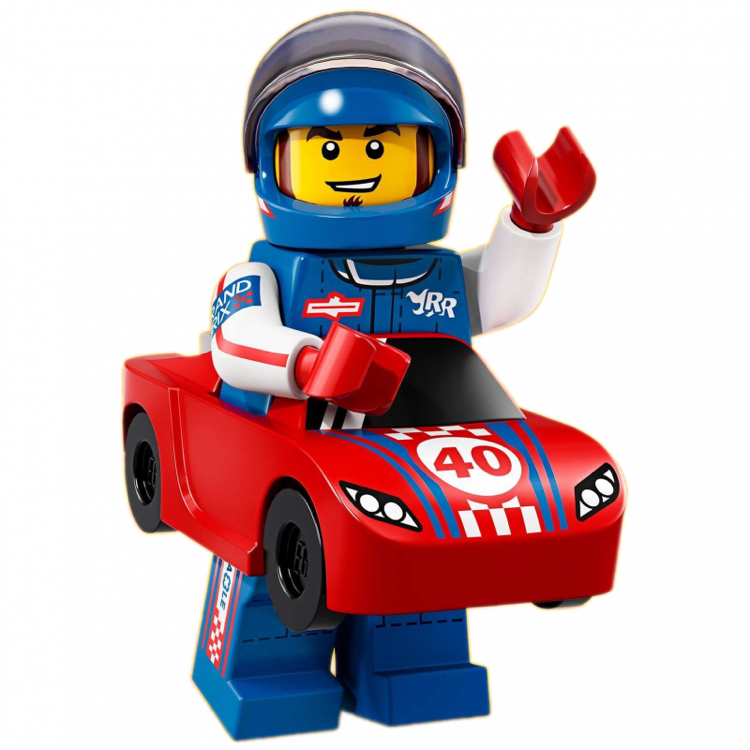 LEGO Collectible Minifigures: 71021 Series 18 Race Car Guy NEW