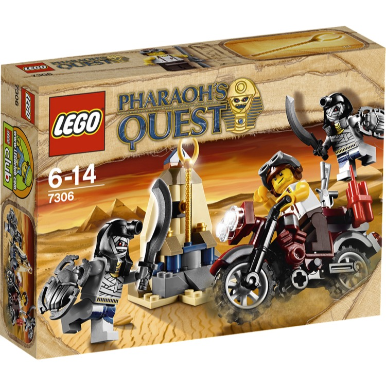 LEGO Pharaoh's Quest Sets: 7306 Golden Staff Guardians NEW