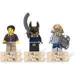 LEGO Pharaoh's Quest Sets: 853168 Jake Raines, Anubis Guard, and Mummie Minifigure Magnets NEW