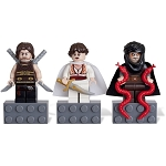 LEGO Prince of Persia Sets: 852942 Dastan, Tamina, and Hassanssin Leader Minifigure Magnets NEW