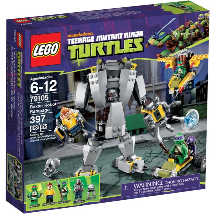 LEGO Teenage Mutant Ninja Turtles Sets: 79105 Baxter Robot Rampage NEW