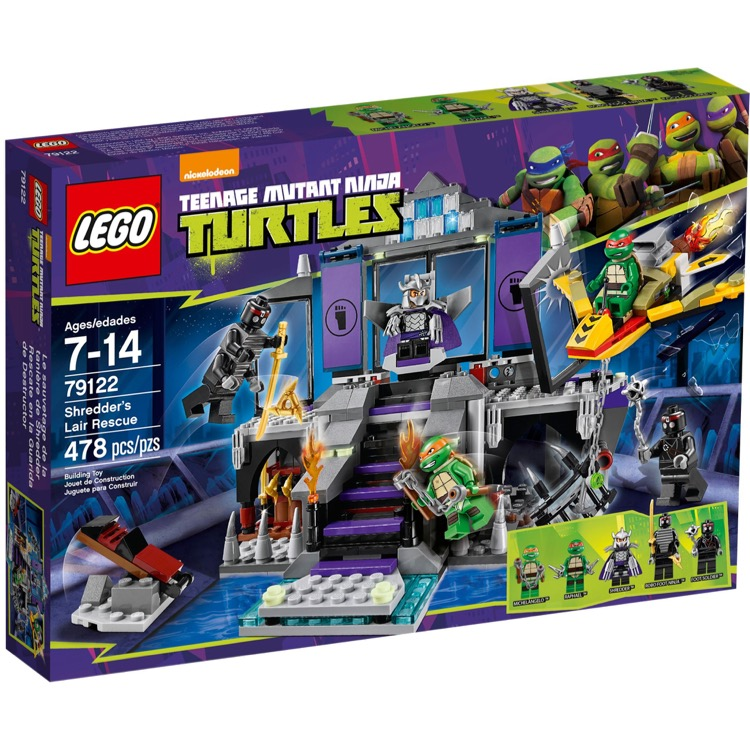 LEGO Teenage Mutant Ninja Turtle Sets: 79122 Shredder's Lair Rescue NEW