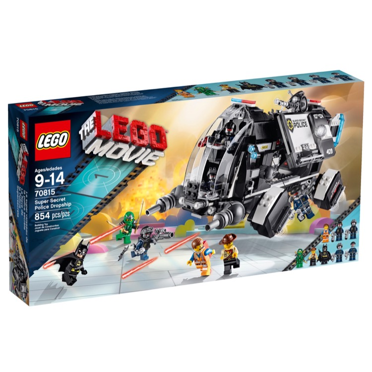 LEGO The LEGO Movie Sets: 70815 Super Secret Police Dropship NEW
