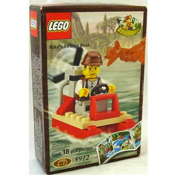 LEGO Adventurers Sets: Dino Island 5912 Mike's Swamp Boat NEW *Rough Shape*
