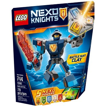 LEGO Nexo Knights Sets: 70362 Battle Suit Clay NEW