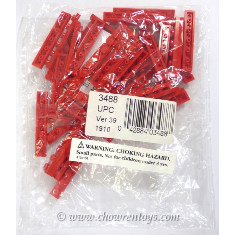 LEGO Accessories Sets: Bulk Bricks 3488 1x6 Red Plates NEW