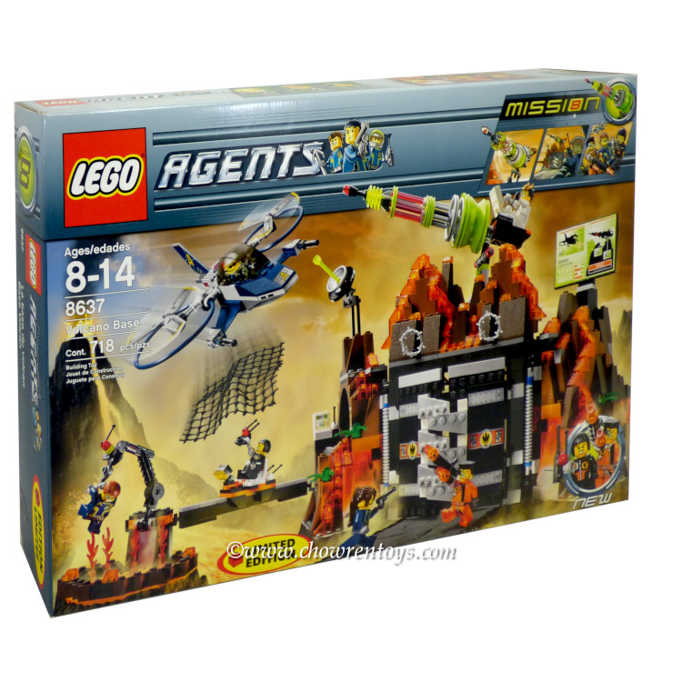 LEGO Agents Sets: 8637 Volcano Base NEW