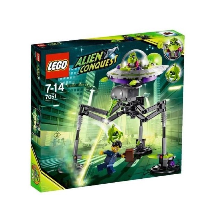 LEGO Alien Conquest Sets: 7051 Tripod Invader NEW