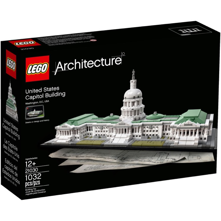 LEGO Architecture Sets: 21030 United States Capitol Building NEW *Rough Shape*