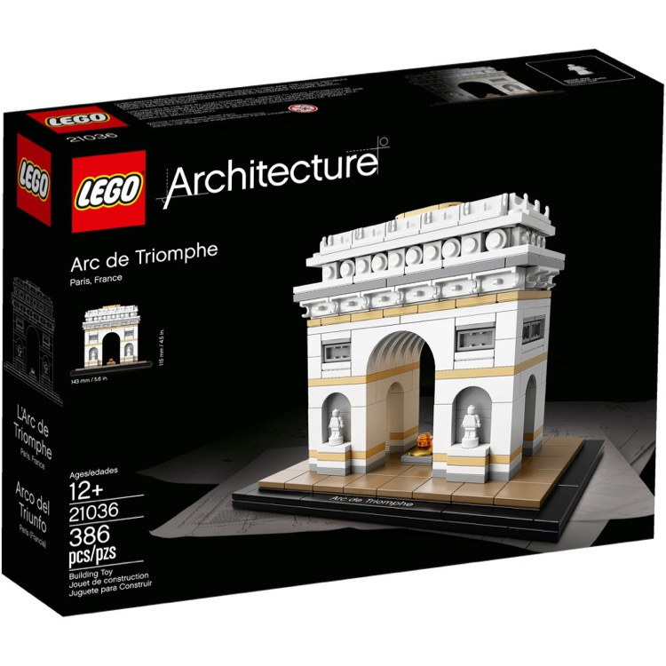 LEGO Architecture Sets: 21036 Arc de Triomphe NEW *Rough Shape*