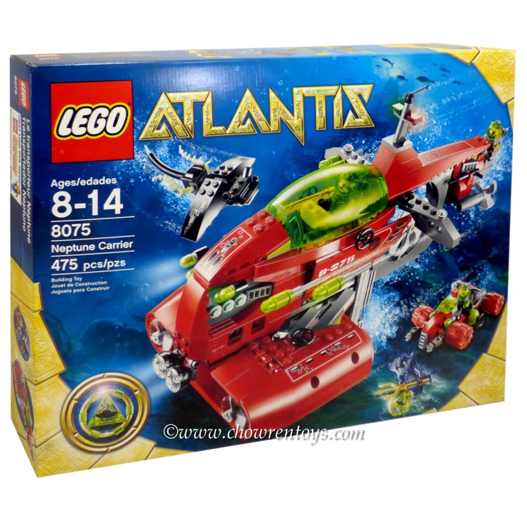 LEGO Atlantis Sets: 8075 Neptune Carrier NEW