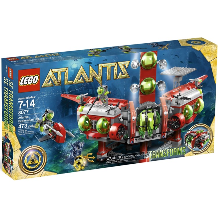LEGO Atlantis Sets: 8077 Atlantis Exploration HQ NEW