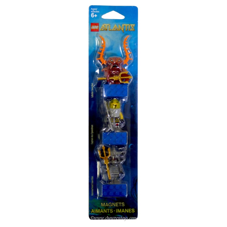LEGO Atlantis Sets: 853087 Lobster Guardian, Captain Ace Speedman, and Hammerhead Guardian Minifigure Magnets NEW