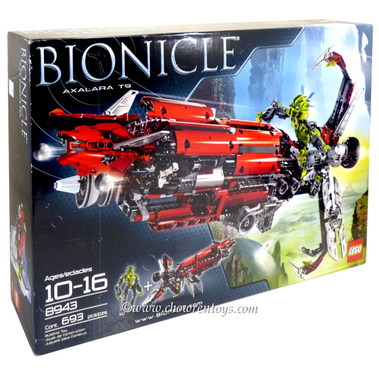 LEGO Bionicle Sets: 8943 Axalara T9 NEW *Rough Shape*
