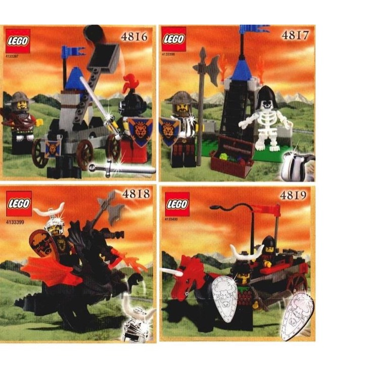 LEGO Castle Sets: Knights' Kingdom 4816 4817 4818 4819 NEW