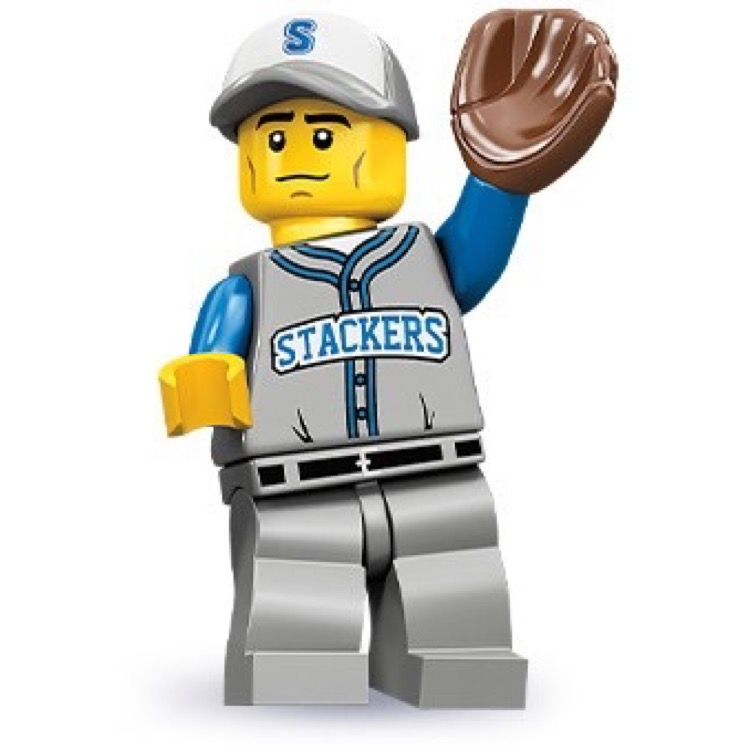 LEGO Collectible Minifigures: 71001 Series 10 Baseball Fielder NEW