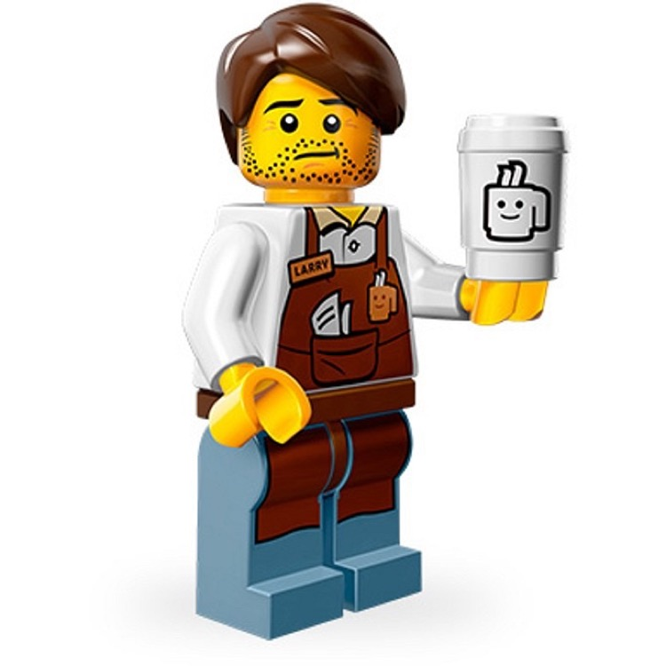LEGO Collectible Minifigures: 71004 The LEGO Movie Series Larry the Barista NEW