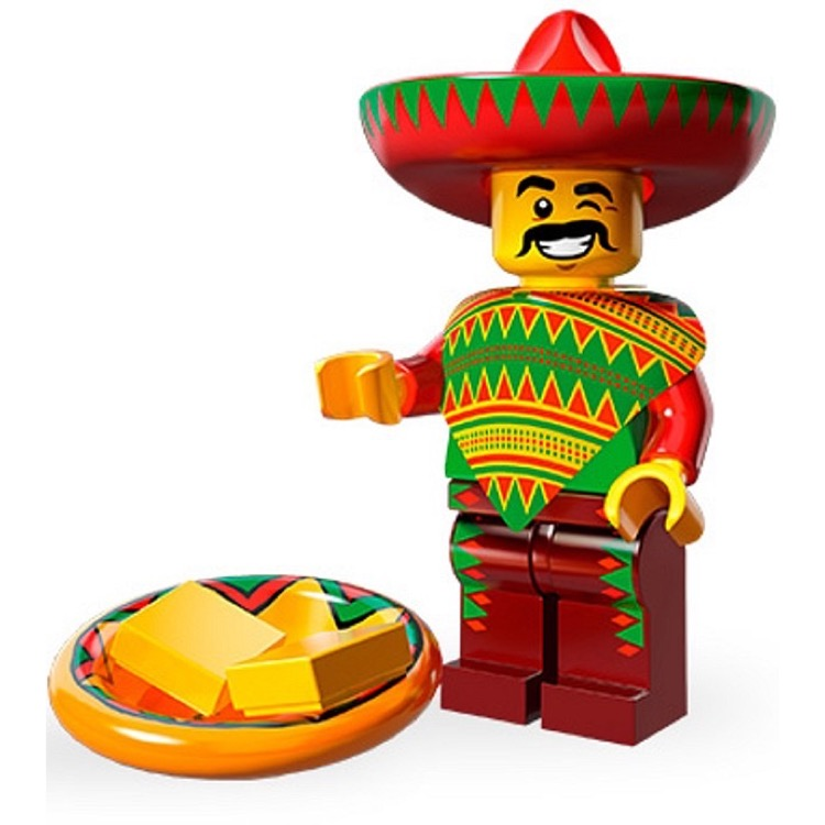 Lego Collectible Minifigures 71004 The Lego Movie Series Taco Tuesday Guy New