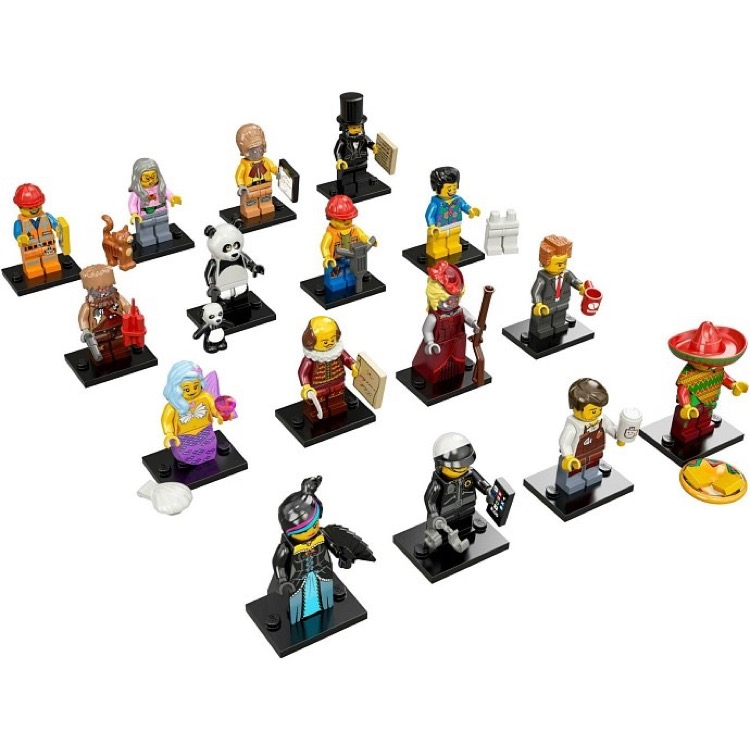LEGO Collectible Minifigures: 71004 The LEGO Movie Series Collection of all 16 NEW