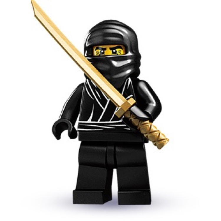 LEGO Collectible Minifigures: 8683-12 Series 1 Ninja NEW