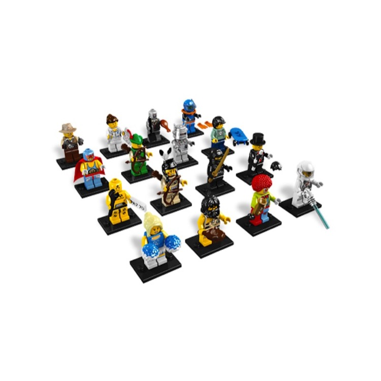 LEGO Collectible Minifigures: 8683 Series 1 A Collection of all 16 NEW