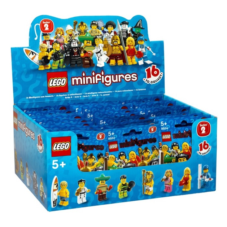 LEGO Collectible Minifigures: 8684 Series 2 (Sealed Box of 60) NEW