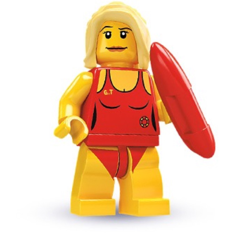 LEGO Collectible Minifigures: 8684 Series 2 Life Guard NEW