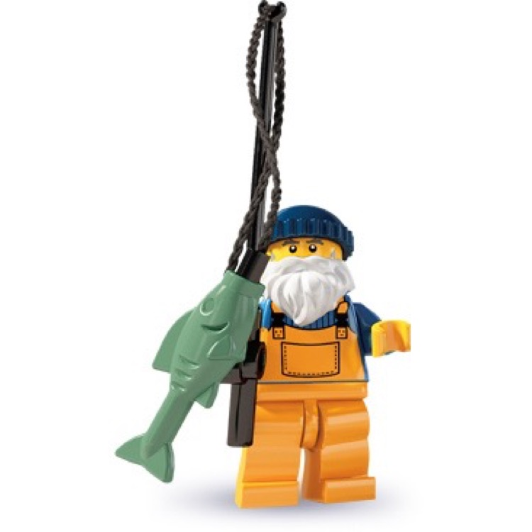 LEGO Collectible Minifigures: 8803 Series 3 Fisherman NEW