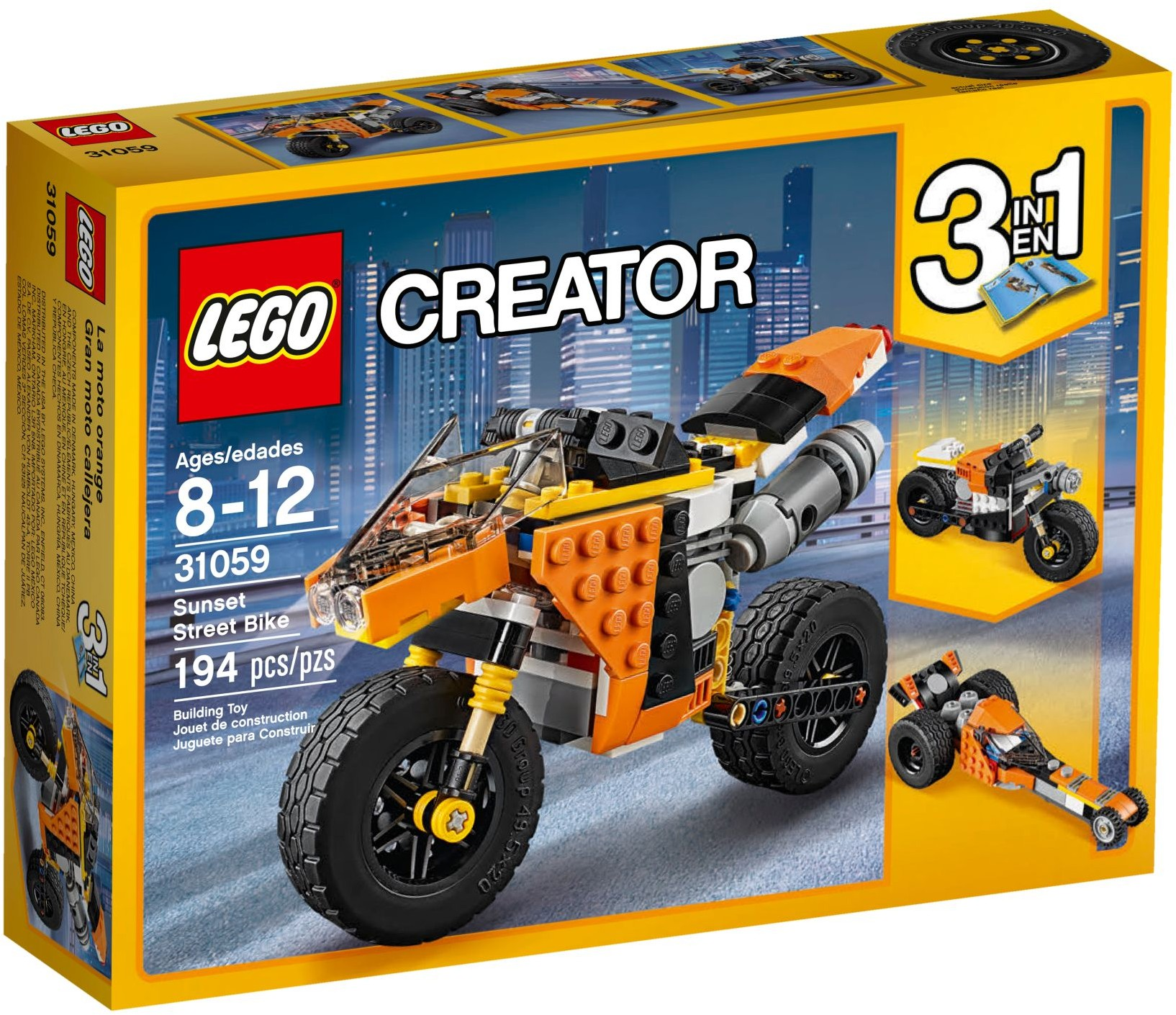 LEGO Creator Sets: 31059 Sunset Street Bike NEW