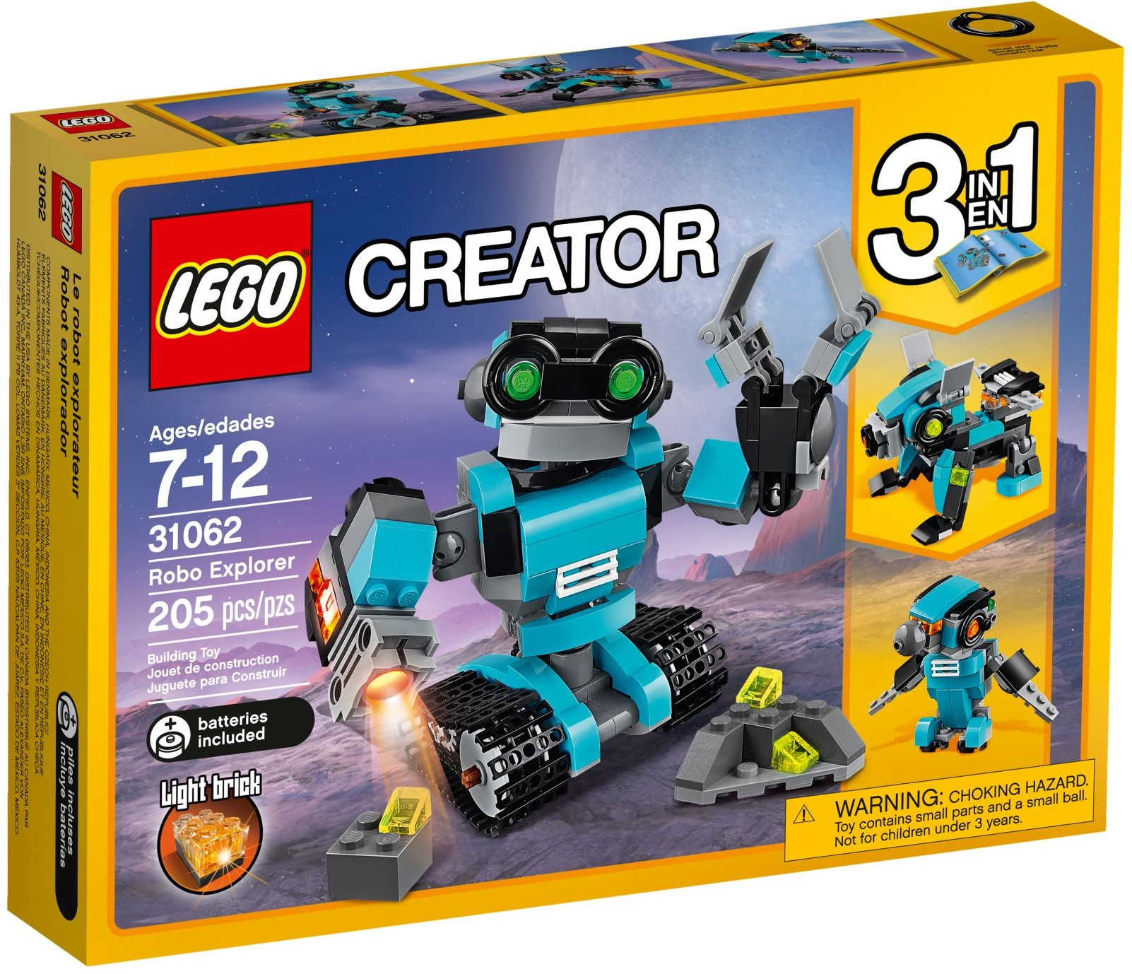LEGO Creator Sets: 31062 Robo Explorer NEW  *Damaged Box*
