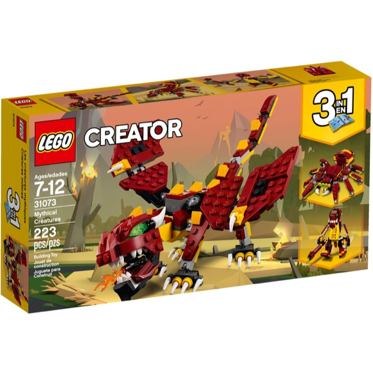 LEGO Creator Sets: 31073 Mythical Creatures NEW