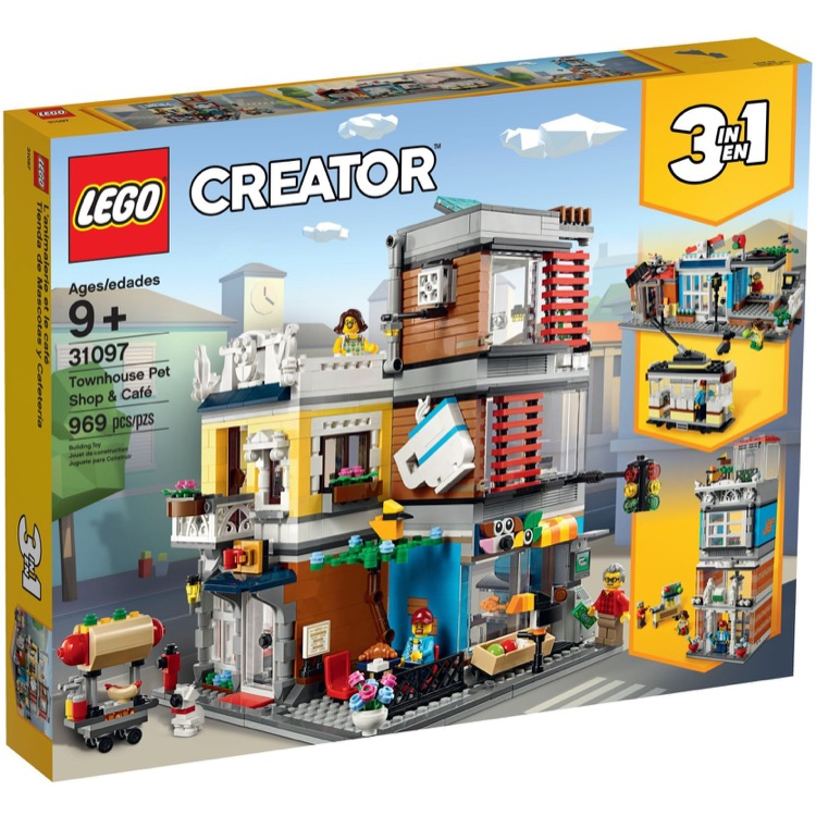 LEGO Creator Sets: 31097 Townhouse Pet Shop & Cafe NEW