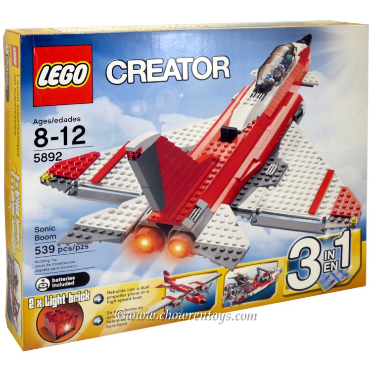 LEGO Creator Sets: 5892 Sonic Boom NEW *Damaged Box*